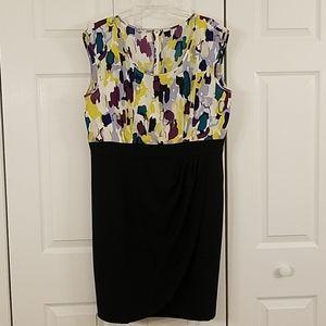 Watercolor knee-length dress